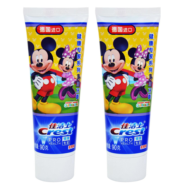 Crest Stages Kid's Tooth Pastes Winnie the Pooh/Mickey Mouse/Princess Berry Flavor Toothpastes Twin Pack