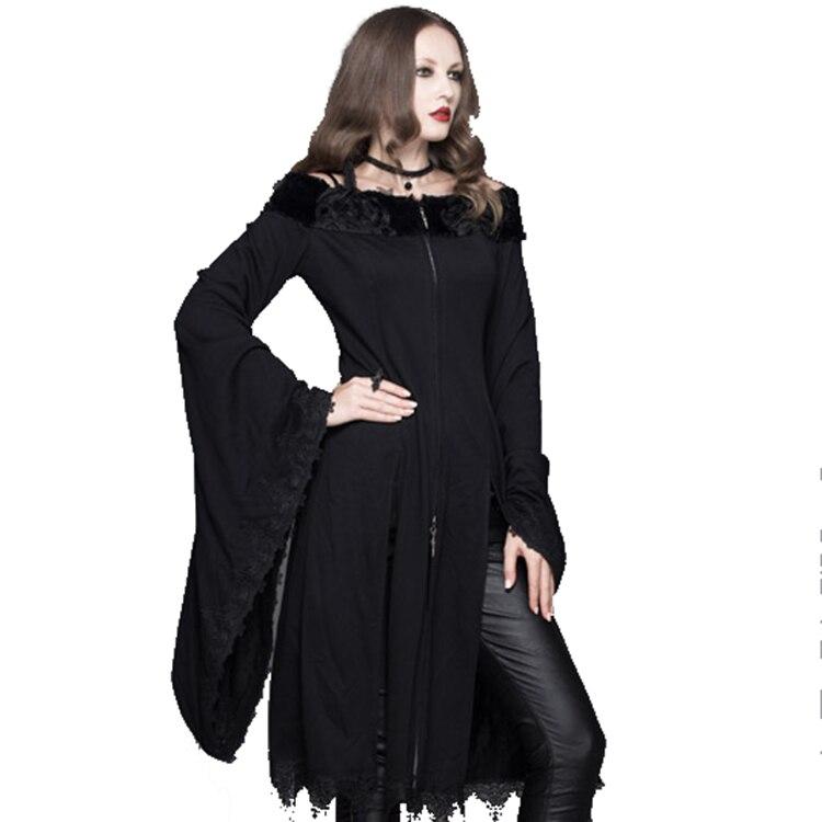 Дьявол модные панк Для женщин Slash Средства ухода за кожей шеи футболки готический черный Повседневное длинные Рубашки для мальчиков пикант