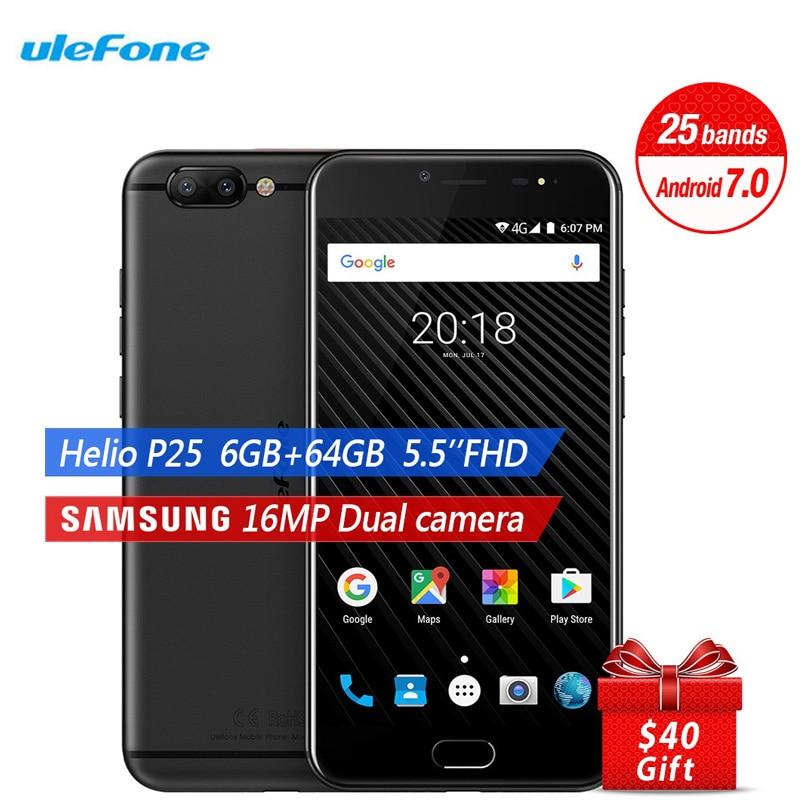 Galleria fotografica Ulefone T1 6 GB RAM + 64 GB ROM <font><b>Smartphone</b></font> 5.5 Pollice FHD 16.0MP + 8MP Android 7.0 Octa Core Dual SIM 3680 mah Touch ID LTE 4G Cellulare telefono