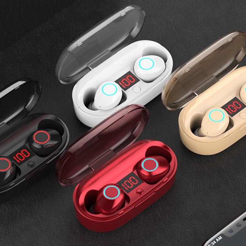 Bluetooth 5.0 écouteur avec Microphone Mini sans fil écouteurs stéréo casque haute qualité sonore TWS Bluetooth écouteurs YZ211 - 6