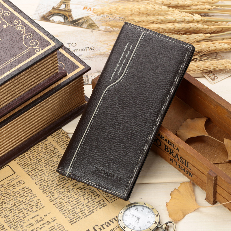 100% Genuine Leather Grain Design Men's Wallets With Coin Pocket Fashion Brand Quality Purse Card Holders For Male