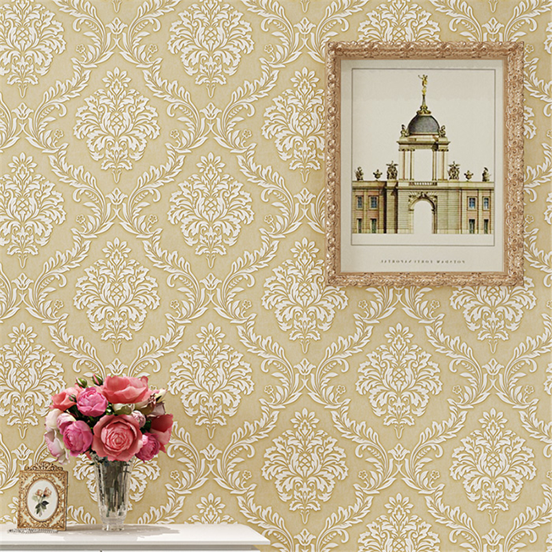 beibehang Luxurious European Wallpapers Bedroom Living Room TV Background Wall Relief Damascus Wallpaper papel de parede tapety beibehang european nonwovens wallpaper bedroom living room tv background wallpapers 3d relief three dimensional wallpaper