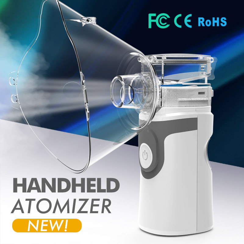 Newest Ultrasonic Nebulizer Handheld Asthma Inhaler Atomizer For Adult Children Health Care Mini Portable Mesh Nebulizer(China)