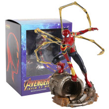 Ferro estúdios marvel iron spiderman 1/10 escala pvc figura collectible modelo de brinquedo(China)