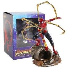 Iron centre Iron Spider Spiderman scala 1/10 PVC Figure Toy Model da collezione
