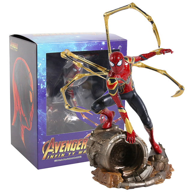 Iron centre Iron Spider Spiderman scala 1/10 PVC Figure Toy Model da collezione