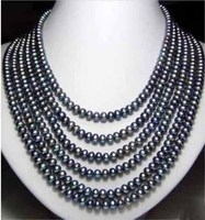 607 8mm natural south sea genuine black red round pearl necklace 14k 999AAA