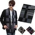 Бесплатная доставка Unisexy чистого шелка шарф платок 180 * 30 см серый черный шелковый дремая шарф зима мужчины большой плед длинный шарф