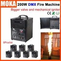 8 unids/lote de encendedor mecánico dmx máquina de fuego DMX 512 máquina de llama 4m Altura de llama efecto de escenario Uso de fuego líquido|dmx fire machine|fire machine dmx|flame machine -