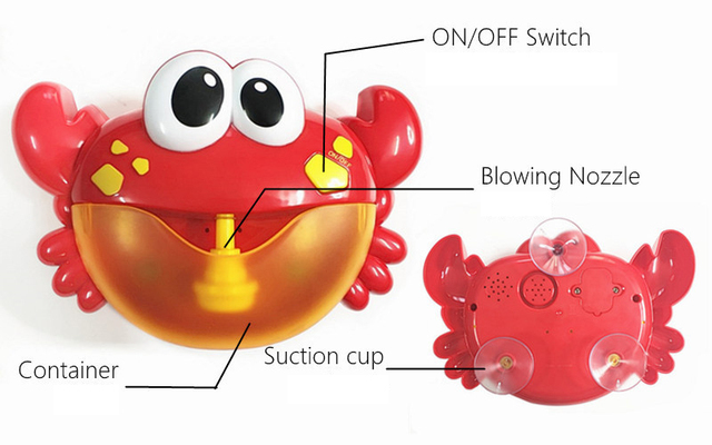 Baby Bath Bubble Crabs With Music Kids Funny Bathtub Soap Machine Automatic Bubble Maker Baby Shower Accessories