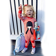 New 2017 fashion Red Striped baby rompers baby boy clothes long sleeve newborn cotton baby girls