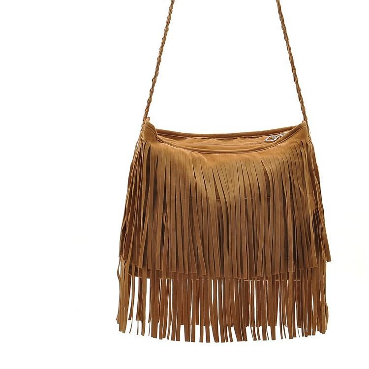Fashion PU Leather Handbag Tassel bags Vintage Bucket Women Shoulder bag Small Ladies messenger bags Tote bolsa 2015 BH249 (1)