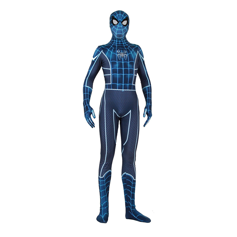 Adult Kids Lycra Game PS4 Spiderman Fear Ltself Suit Bodysuit Zentai Cosplay Costumes for Man Boys Superhero Costume Cosplay