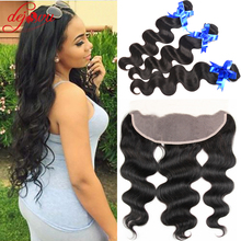 Stema Hair Brazilian Body Wave With Closure 3 Bundle Brazilian Hair Weave Bundles With Closure Lace Frontal With Bundles