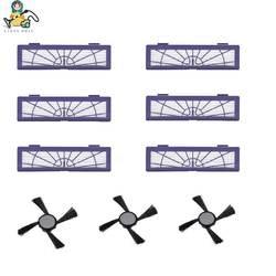 9-Pack чистым куклы Neato Botvac фильтр HEPA боковая щетка для пылесоса Neato Botvac 70e 75 80 85 D75 D80 D85 D3 D5 кисти