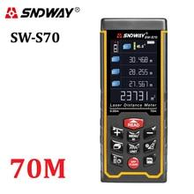 SNDWAY Rechargeable 70m Color display high-precision Laser rangefinder distance meter trena Laser tape measure Diastimeter(China (Mainland))