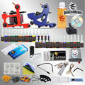 New Style 2 Tattoo Machine Guns Tattoo Kit 28 Inks Tattoo Needles Tattoo Supply