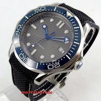 새로운 41mm bliger 그레이 다이얼 축광 시계 deloctivity clasp 사파이어 날짜 자동 태엽 시계 b236