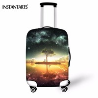 INSTANTARTS Space Galaxy Luggage Protective Covers Nightfall Tree Printed Thicken Dust Rain Cover Apply To 18