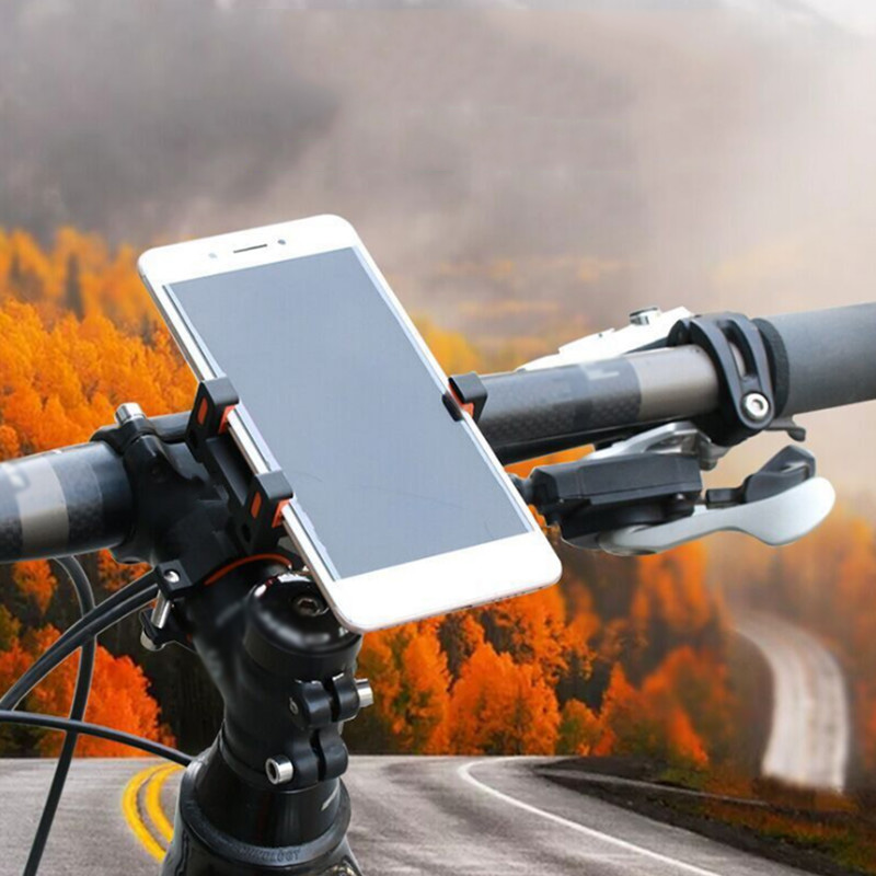Aluminum Alloy Universal Non-Slip Mountain Bike Bracket Mobile Phone Holder Clip Stand ALS88