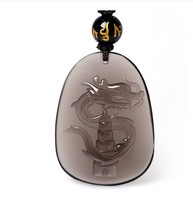 A Rooster Dragon Thomsonae Ice Obsidian Pendant Chicken Mascot Pendant Light Diy Real Stone Obsidian Jewelry