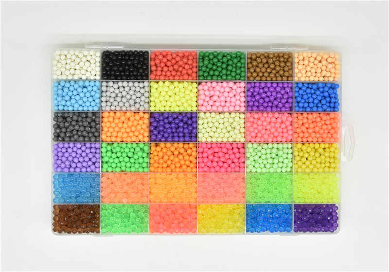 [فقط إضافة الماء] حقبة الخرز الألغاز التعليمية للأطفال اللعب حماة الخرز Perler الخرز Tangram بانوراما الخرز بيرلين ثلاثية الأبعاد Beados اللغز