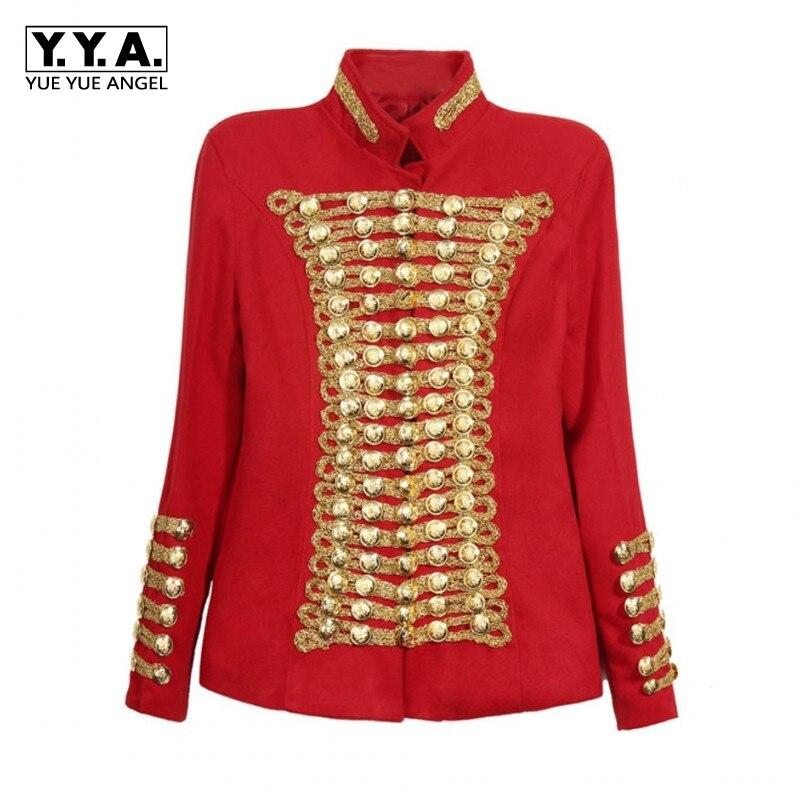 Blouson en or femme, Unique, à la mode, avec boutons d'or, Punk, Rock, Roupas, Double boutonnage,