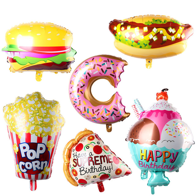 new ice cream popcorn cake hamburg donut pizza balloon baby birthday