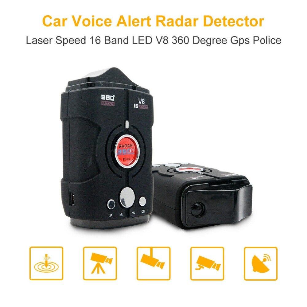 Автомобильный Дальнобойщик с углом обзора 360 градусов, скорость V8, GPS, радар-детектор, 16-полосная камера, голосовое оповещение, Warnin 12 В