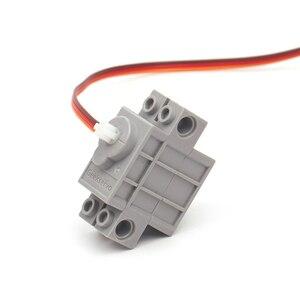 Image 4 - 2 Chiếc 270 Độ Có Thể Lập Trình Xám Geek Servor + 2 Đỏ Động Cơ Giảm Tốc Cho Micro: bit Robotbit Lego Xe Thông Minh Makecode MB0008