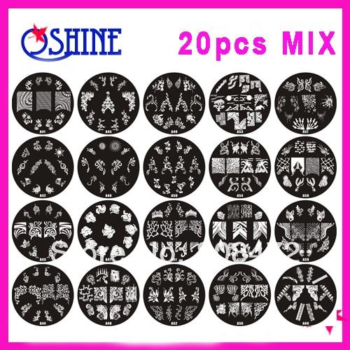 20pcs diameter 70cm nail art stamping design image mix designs no 20pcs diameter 70cm nail art stamping design image mix designs no repeat nail discs prinsesfo Image collections