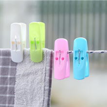 Multifunctional Plastic Clothespins Mini Non-slip Windproof Laundry Clips Photo for Underwear Socks Drying 6.5*3*2cm