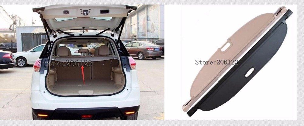 For Nissan X-Trail X Trail T32 Rogue 2014 2015 2016 Rear Trunk Security Shield Cargo Decoration Protection Cover Trim rear bumper protector sill exterior guard pedal trim accessory for nissan x trail x trail rogue t32 2014 2015 2016 car sticker