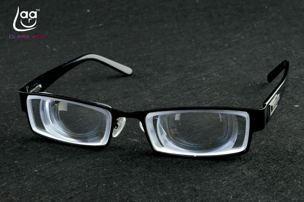 Glasses Men Limit!! Clara Vida Standard Men Masculine Goc High Myopic Myodisc Myopia Glasses With 1.56 Index Lenses -15d Pd64