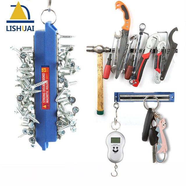Lishuai 2018 Super Ful Magnetic Tool Holder Double Sided Neodymium Magnet Knife Shelf Bar For