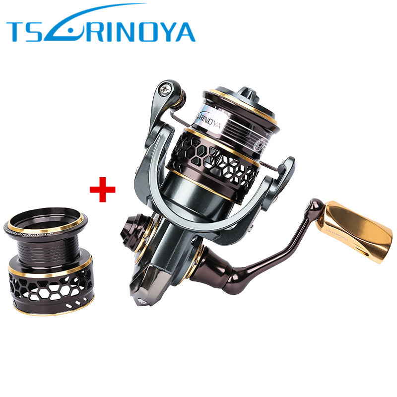 TSURINOYA JAGUAR 1000 Spinning Fishing Reel 10BB/5.2:1 Two Metal Spool Spinning Reel Pesca Carretilhas De Pescaria Carp Fishing trulinoya jaguar spinning fishing reel 1000 2000 3000 double metal spool carp wheel fishing tackle 10bb 5 2 1