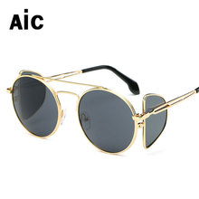 New Arrive Cat Eye Designer Anti-reflective Sunglasses Women Fashion Alloy Stainless Steel Sunglasses  For Female UV400