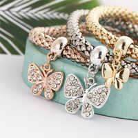 Vente Chaude 3 pièces Charme Femmes Bracelet ou Argent ou Rose Strass Bracelet Bijoux Pour Le Cadeau livraison directe 533