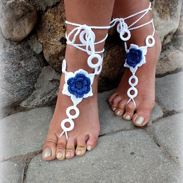 Magnífico Sandalias Descalzas Patrón De Crochet Libre Fotos - Ideas ...
