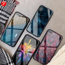 Tempered Glass Customized Phone Cover for iPhone X R S 11 Pr