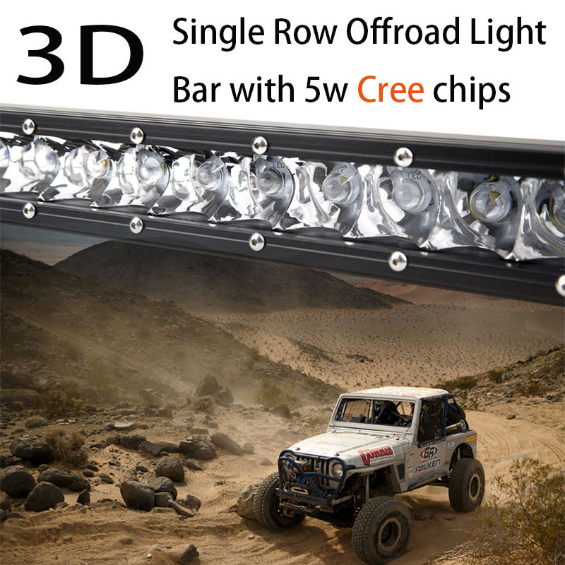 "Super Mini 10/""100w Led Light Bar Combo Single Row Work Driving Lights SUV"