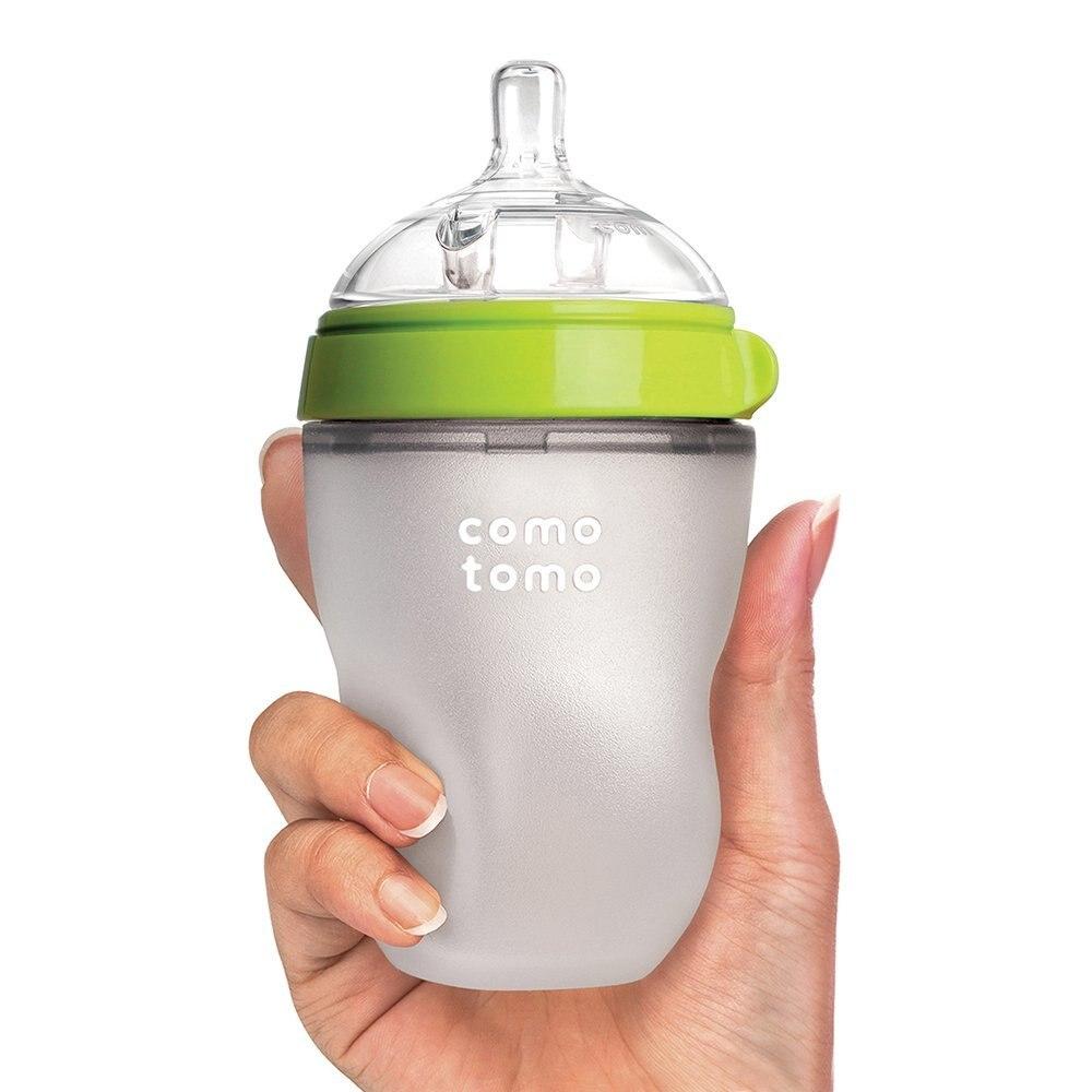 Silicone Baby Bottle baby milk silicone feeding bottle(Spoon bonus)