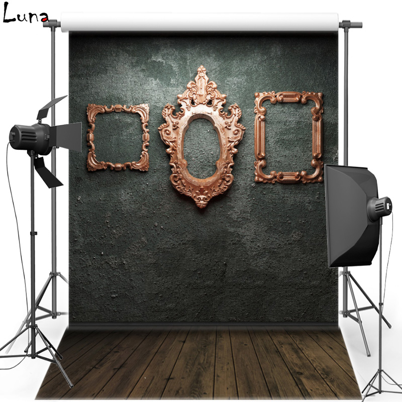 Photo Frame Wall Vinyl Photography Background Backdrop For Children Wood Floor Oxford Photo Background For Photo Studio 2616  vinyl photo backdrops for photo studio button oxford photography background wood floor for children free shipping