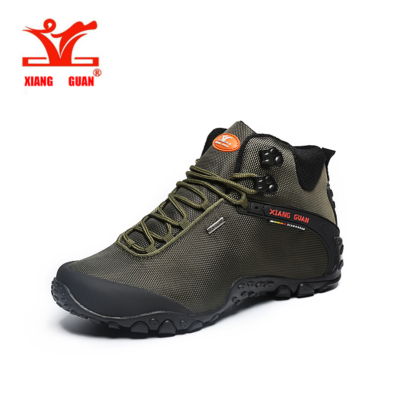 XIANGGUAN Brand Hiking Shoes Climbing Waterproof Boot High Top Quality For Man and Woman Camp Sneaker Black Army Green US 3-12 us 3 12