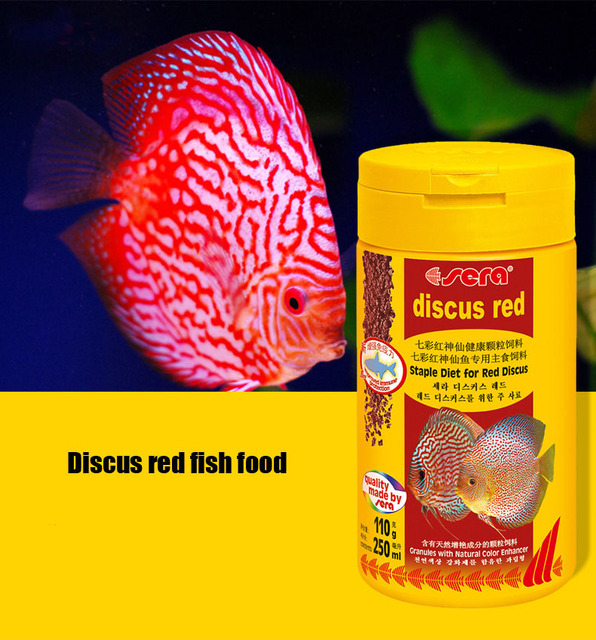 Sera Discus fish food aquarium Pigeon Blood Discus Hi-fin Hi-form Cobalt Blue Turquoise small tropical fish food feed