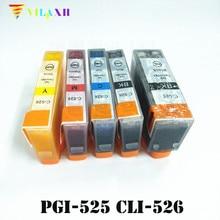 PGI-525 CLI-526 Ink Cartridges For Canon PGI525 CLI526 PIXMA IP4950 IP4850 IX6550 MG5150 MG5250 MG5350 MX715 MX885 MX895