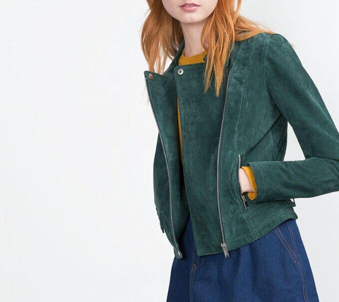 Aliexpress.com : Buy Fashion ZA New Autumn Emerald Green SUEDE ...