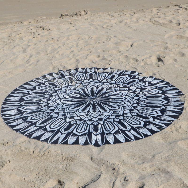 mandala ronda elefante indio tapiz tapiz tirar towel yoga mat boho beach decorativos verano cm
