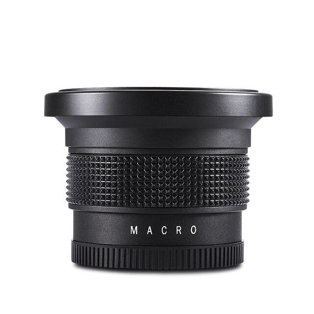 Lightdow 58mm 0.35X Fish Eye Super Wide Angle Fisheye Lens for Canon Nikon Sony DSLR