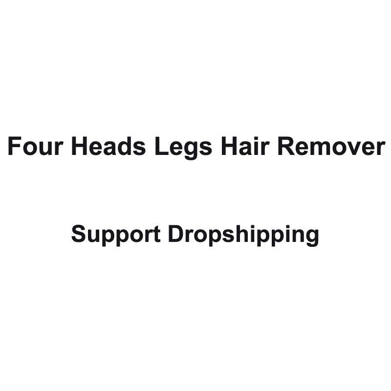 Quatro Chefes Recarregável Barbeador dispositivo de remoção de Pêlos Do Corpo das mulheres Dropshipping Apoio Pequenos Aparelhos de Ar Condicionado Fãs